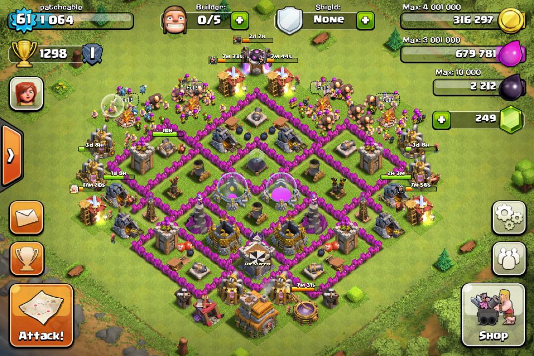 My Town Hall lvl 7 base layout - The Hadean - Clash of Clans